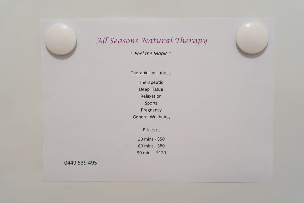 All Seasons Natural Therapy image 7